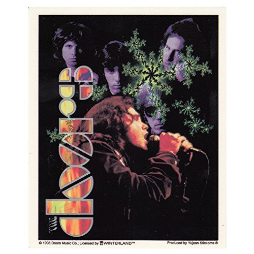 The Doors Jim Morrison With Band Sticker