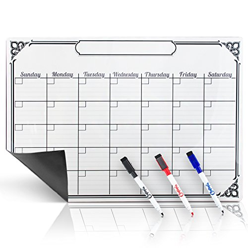 Smart Planners Magnetic Calendar For Refrigerator White Board   With 3 Magnetic Dry Erase Markers  Large    Great As A Kitchen Fridge Dry Erase Family Board Planner