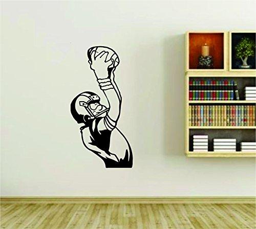 Football Player Catching Ball NFL Design Vinyl Wall Decal Sticker Car Window Truck Decals Stickers fbyca26 14x28 by Dabbledown