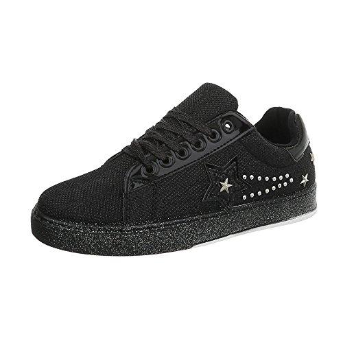 Donna Schwarz 25 Pp Sneaker Ital design 7qnExg