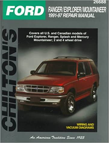 ford: ranger/explorer/mountaineer 1991-97 (total car care series): the  nichols/chilton editors: 9780801989681: amazon com: books