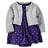 Carter's Baby Girls' 2-Piece Dress and Cardigan Set (6 months, Purple)