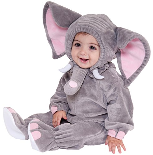 Forum Novelties Baby Boy's Plush Cuddlee Elephant Costume, Multi, 1-2 Years