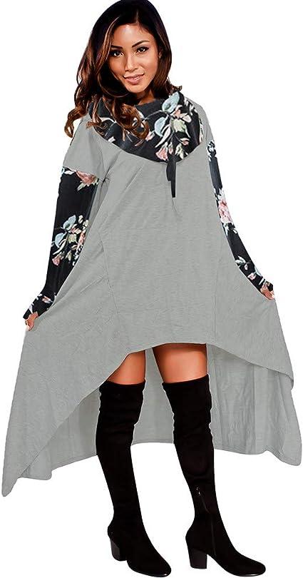 Womens Long Sleeve Sweatshirt L, Blue Sttech1 Cactus Print Hoodie Sweatshirt Hooded Pullover Blouse Tops by