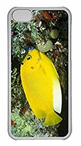 LJF phone case ipod touch 5 Case, Personalized Custom Three Spot Angelfish Apolemichthys Trimaculatus Solomon Islands for ipod touch 5 PC Clear Case