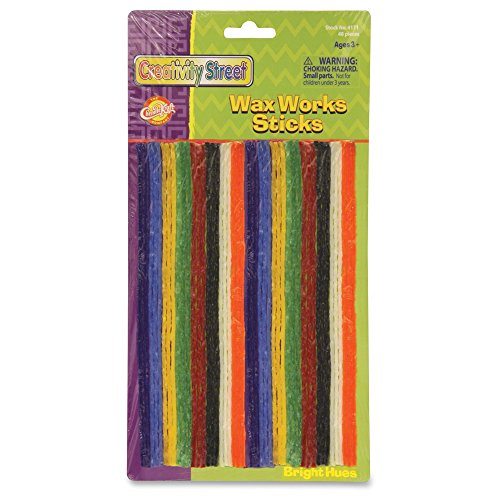Creativity Street 4170 Wax Works Strips Bright Hues Colors 48 Pieces - Moldable Strip