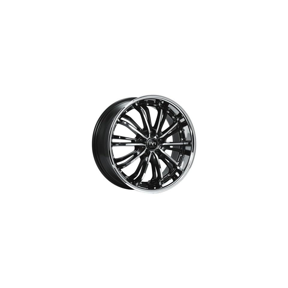 Motiv Mystique 18x8 Chrome Black Wheel / Rim 5x4.5 with a 42mm Offset and a 73.00 Hub Bore. Partnumber 402CB 8806542
