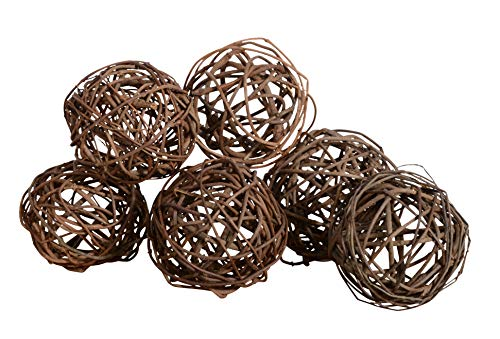 - Set of 6 Natural Vine Balls 4 Inches Diameter, Bowl and Vase Filler