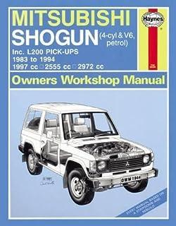 mitsubishi shogun and l200 owner s workshop manual haynes owners rh amazon co uk service manual mitsubishi pajero sport owners manual mitsubishi pajero 1998