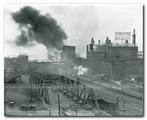 (Wall Decor 1922 The West Bottoms Vintage Kansas, Missouri City Art Print Poster (16x20))