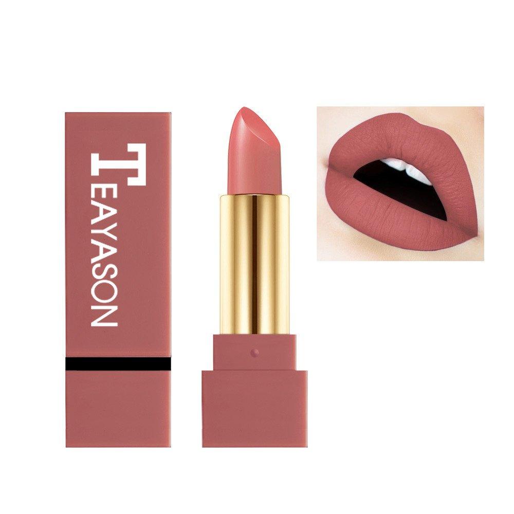Matte Rouge à lèvres Lonshell opaque pigment marron nu durable rouge à lèvres mat maquillage (04#)