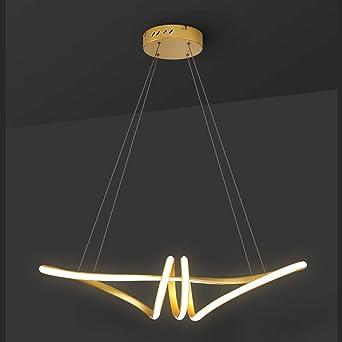 Henley - Lámpara de techo moderna para comedor, lámpara de araña LED de 48 W, iluminación de techo, diseño creativo dorado, lámpara colgante para salón, comedor, cocina: Amazon.es: Iluminación