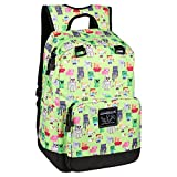 JINX Minecraft Overworld Sprites Kids School Backpack, Green, 17'