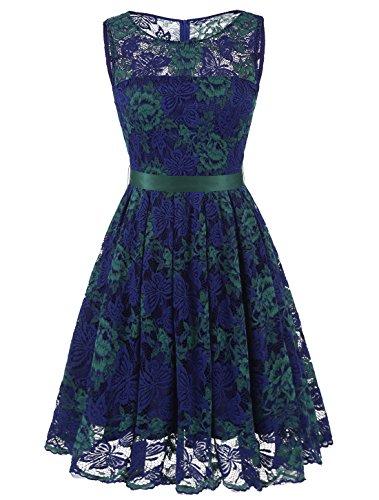 Lace Boatneck Dress - 5