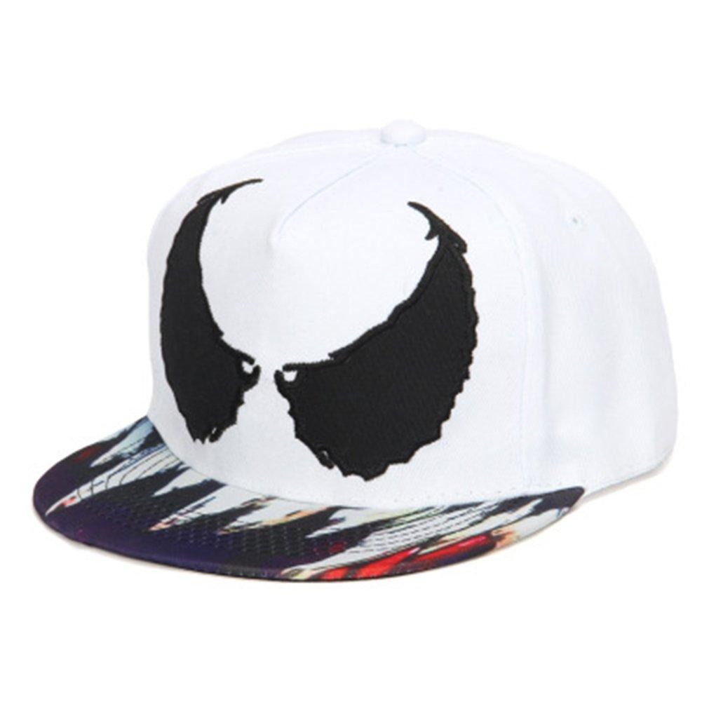 4420643467136 Xuzirui Venom Spider Hip Hop Hats Cool Flat Eaves Baseball Hoods Cotton Cap  Snapback Hat (Black) at Amazon Women s Clothing store