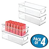 mDesign Stackable Plastic Office Storage Organizer