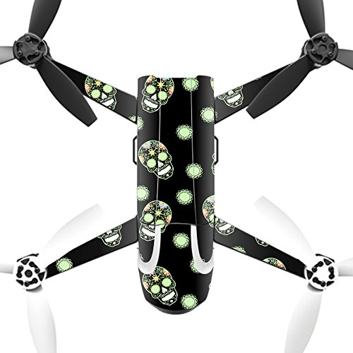MightySkins Protective Vinyl Skin Decal for Parrot Bebop 2 Quadcopter Drone wrap cover sticker skins Glowing Skulls by MightySkins