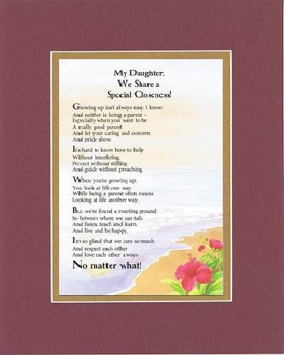 Amazon com: Touching and Heartfelt Poem for Daughters - My