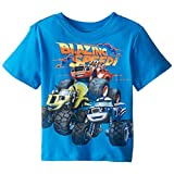 Blaze and the Monster Machines Little Boys' Toddler Short Sleeve T-Shirt, French Blue, 3T
