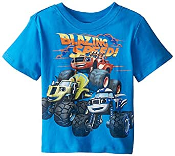 Nickelodeon Blaze and The Monster Machines Little Boys' Toddler Short Sleeve T-Shirt, French Blue, 2T