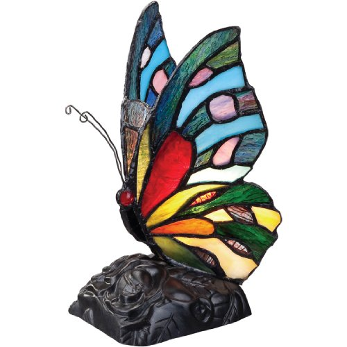 Quoizel TFX1518T Vintage Tiffany 1-Light Butterfly Table -
