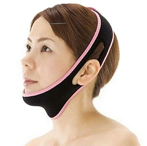 Exclusive US HENG SONG V Line Facial Mask Chin Neck Belt Sheet Anti Aging Face Lift Up ()