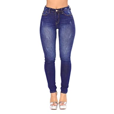 2393c86858b0 OMyAngel Women s Sexy High Waisted Skinny Stretchy Jeans Denim Pants S-3XL
