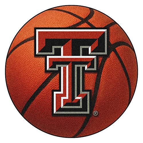 FANMATS NCAA Texas Tech University Red Raiders Nylon Face Basketball Rug