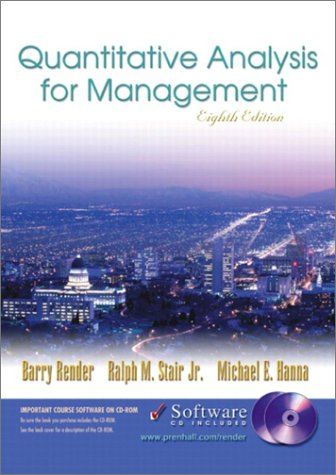 Quantitative Analysis for Management and Student CD-ROM, Eighth Edition
