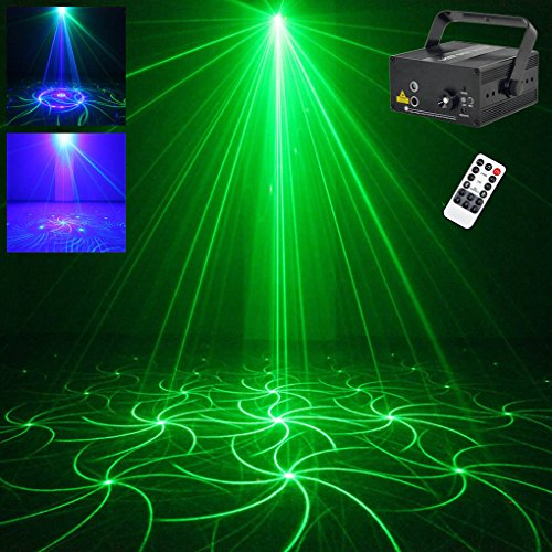 Mini Green Blue 24 Gobos Stage Lights Indoor Lighting DJ Christmas Halloween Home Show Party Decorative Projector L-GB (L24GB) (Lgb Unit)