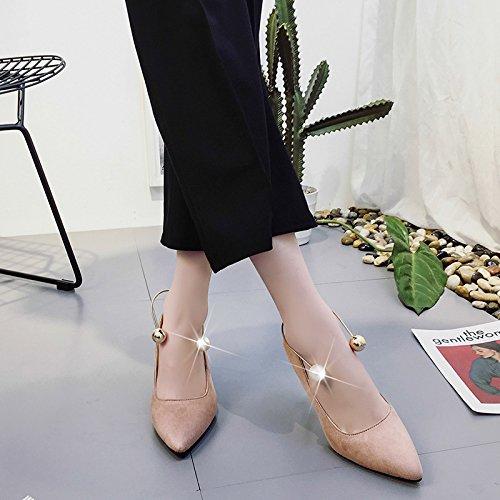 profonda La i bocca donna bassa perla scarpe Anello alti sottolineato Scarpe scarpe ZHZNVX poco di fine caduta ha pink unico con tacchi nuova opaco con qqCdR