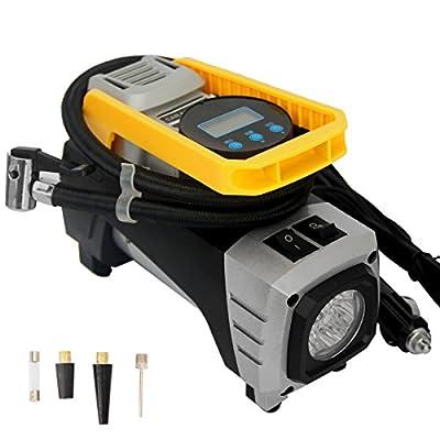 Bibowa Digital Auto Air Pump for Car Tires,Tire Pump Cigarette Lighter Tire Inflator with Gauge 12V DC Portable Car Air Compressor for Spare Tire