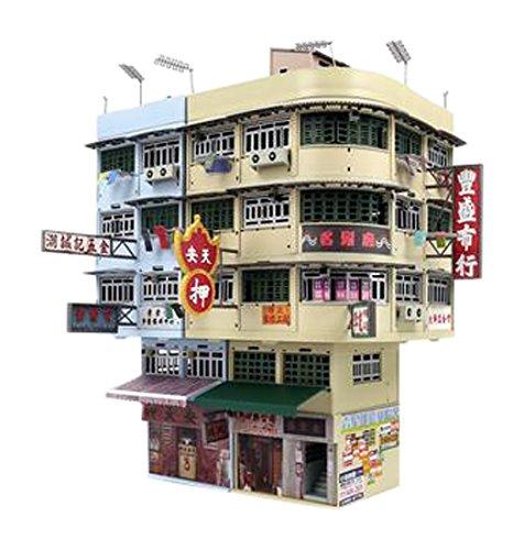 TINY Bd11 홍콩구 시가 디오라마 빌 세트 완성품