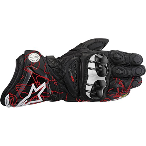 Alpinestars Gp Pro Leather Gloves Distinct Name Black Red Primary Color Blue Gender Mens Unisex Size