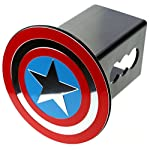 US Military Metal Emblem on Metal Trailer Hitch Cover (Fits 2″ Receivers, US Air Force)