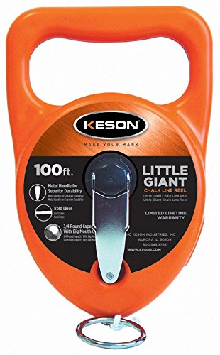 - Keson G100C Giant Chalk Line Reel with Cotton Line, 15-Ounce Capacity, 100-Foot