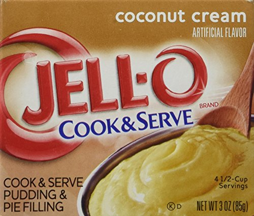 Jell-O Coconut Cream Cook & Serve Pudding & Pie Filling (4-Pack) (Pie Mix Cream)