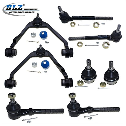 DLZ 8 Pcs Front Suspension Kit-Upper Control Arm Assembly Lower Ball Joint Inner Outer Tie Rod End Compatible with 1997-2003 Ford F150 2WD 1997 Ford F-250 4.6L 5.4L 2WD 1997-2002 Ford Expedition 2WD ()
