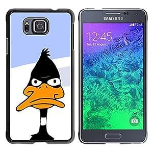 Stuss Case / Funda Carcasa protectora - Duck Black White Beak Cartoon Funny - Samsung GALAXY ALPHA G850