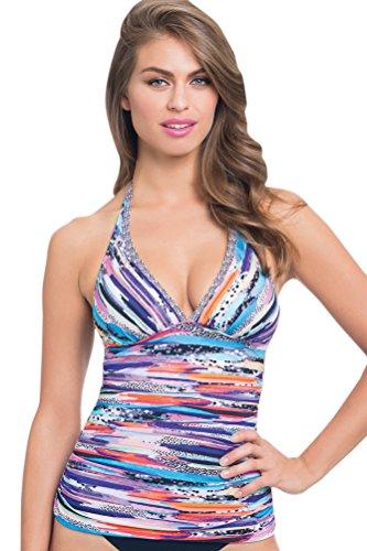 Profile by Gottex Women's Venice Beach Multi Halter Tankini Top Multi - Beach Stores Venice