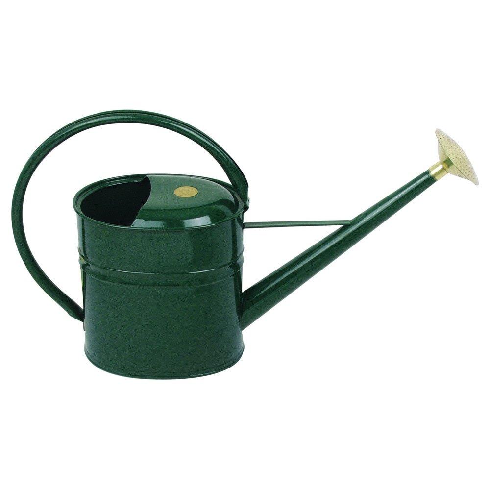 Haws English Garden Slimcan 2 Gallon Galvanized Metal Watering Can Green
