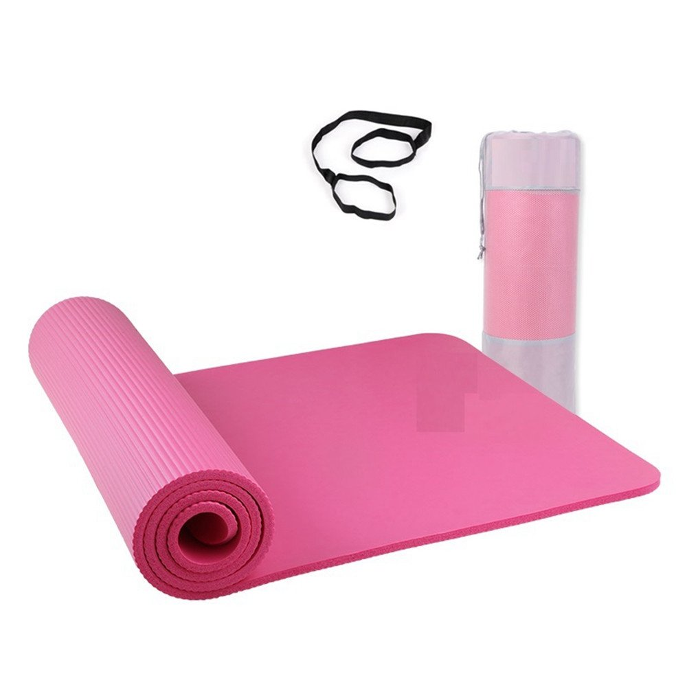 LILUO Yoga Mat NBR Yoga para Principiantes Alfombra de Apoyo ...