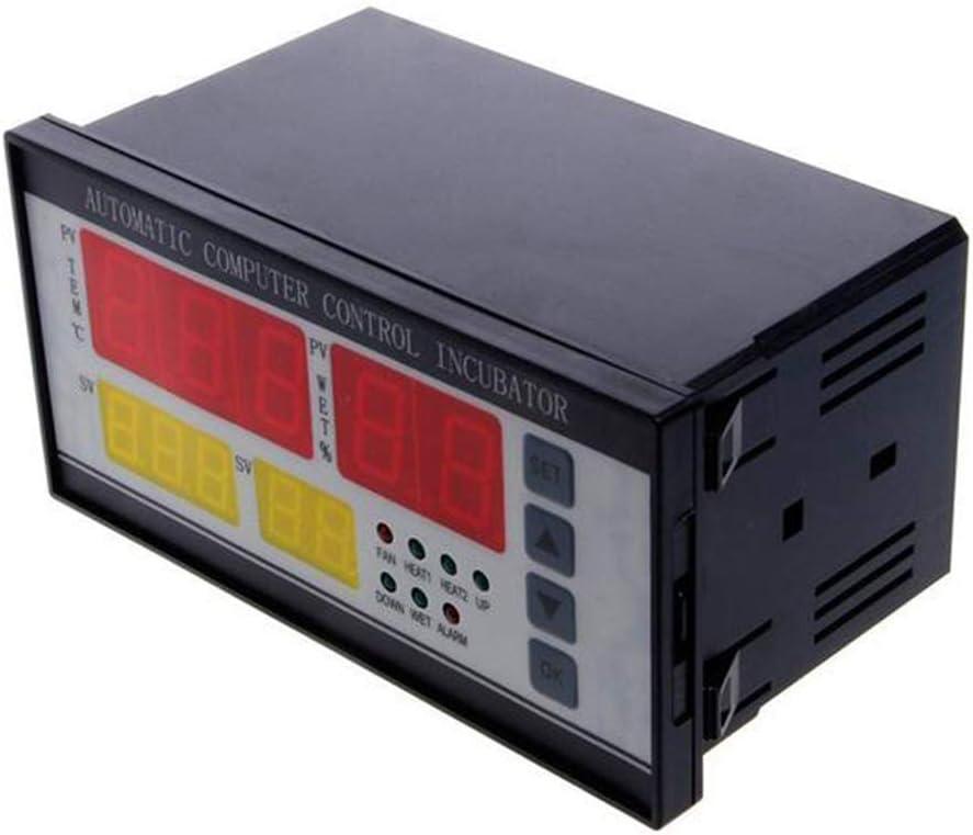 Temperatura Digital Controlador de Humedad Incubador Termostato Incubador autom/ático de Huevos Term/ómetro con Pantalla LCD 2 sensores