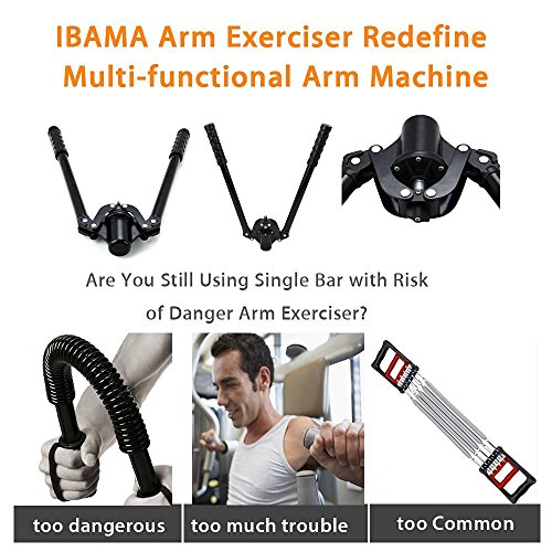 IBAMA Arm Strength Fitness Exerciser Machine Office Sub Health Relief Trainer Hydraulic Pressure Patented Chest Expander Fitness Bar
