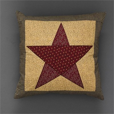 """Country Star Pillow Cover with Insert 16""""x16"""""""