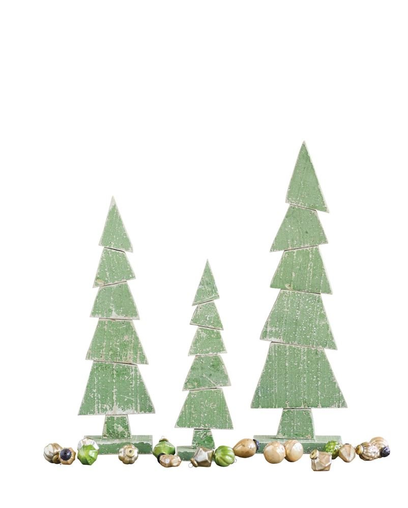 Heart of America Wood Tree On Stand Green - 4 Pieces by Heart of America (Image #1)