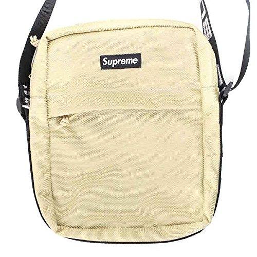 (シュプリーム) SUPREME 【18SS】【Shoulder Bag】ボックスロゴナイロンショルダーバッグ(ベージュ) 中古 B07F1QJT1L