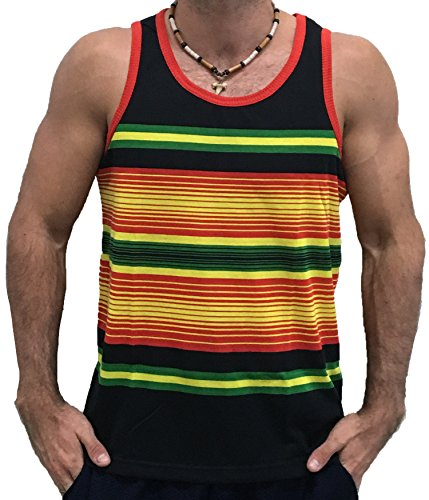 Exist Licensed-Mart Men's Rasta Colors Tank Top