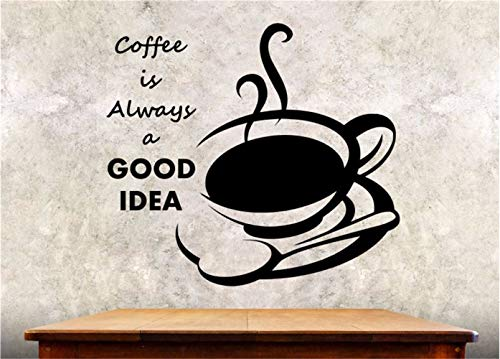 Wall Decal Sticker Art Mural Home Decor Quote Coffee is Always Good Idea for Kitchen Café (Best Minecraft Creation Maps)