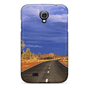 First-class Case Cover For Galaxy S4 Dual Protection Cover Road In The Australian Outback